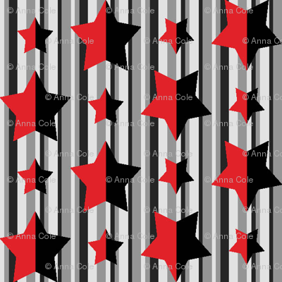 Red and Black Stars and Stripes 2