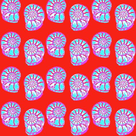 Amazing Ammonites 4 fabric by dovetail_designs on Spoonflower - custom fabric