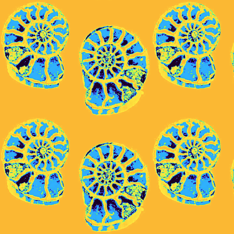 No Mo' Ammonites  (extinct Ammonites) fabric by dovetail_designs on Spoonflower - custom fabric