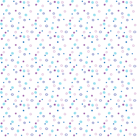 Wee Ditzy Dots_plain and white