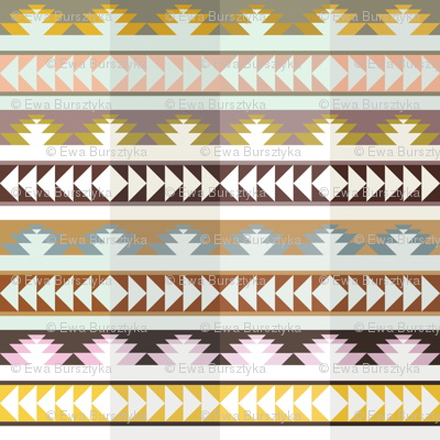 aztec arrows - pleated
