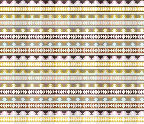 aztec arrows - pleated fabric by ravynka on Spoonflower - custom fabric