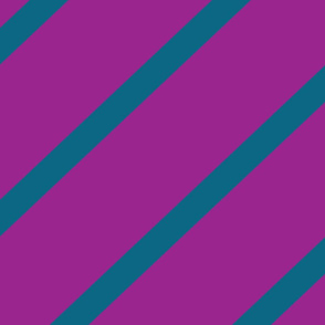 Diagonal Stripe - Purple & Blue
