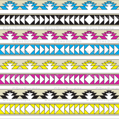 navajo triangles - cmyk
