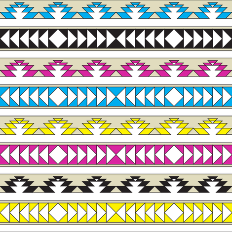 navajo triangles - cmyk fabric by ravynka on Spoonflower - custom fabric