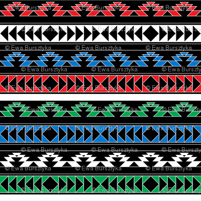 navajo triangles - rgb