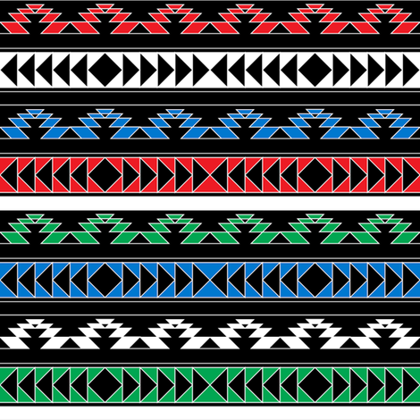 navajo triangles - rgb fabric by ravynka on Spoonflower - custom fabric
