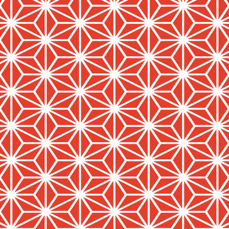 Simple Blocks, Red fabric by animotaxis on Spoonflower - custom fabric