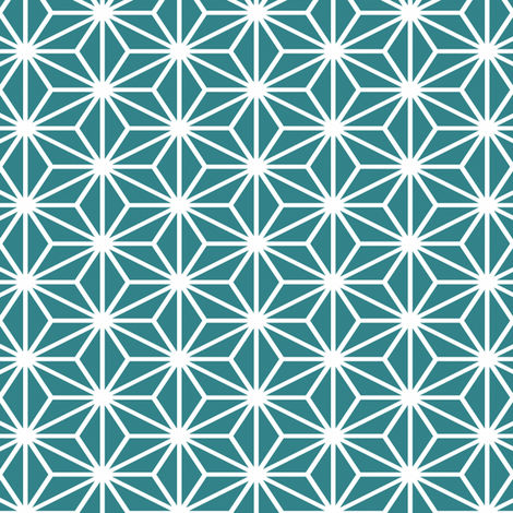 Simple blocks, Teal fabric by animotaxis on Spoonflower - custom fabric