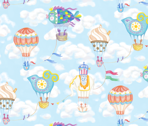 Balloon Beauty Contest fabric by karokarolinko on Spoonflower - custom fabric