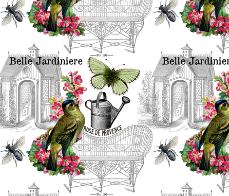 French Garden fabric by victoriagolden on Spoonflower - custom fabric