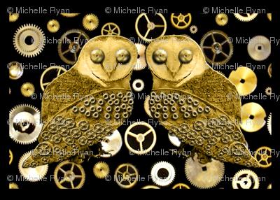 Robo Owls and Cogs Tiles