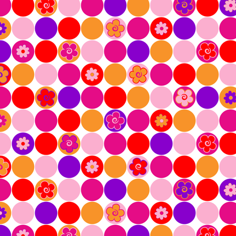 Spring circles fabric by juliagrifol on Spoonflower - custom fabric