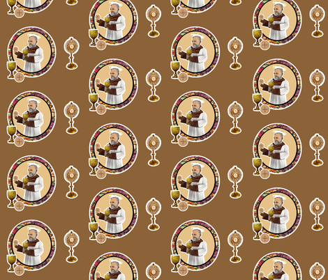 Padre Pio fabric by magneticcatholic on Spoonflower - custom fabric