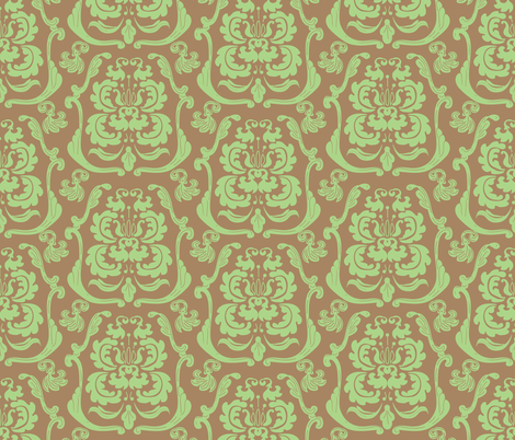 Birdie_Damask_2 fabric by ©_lana_gordon_rast_ on Spoonflower - custom fabric
