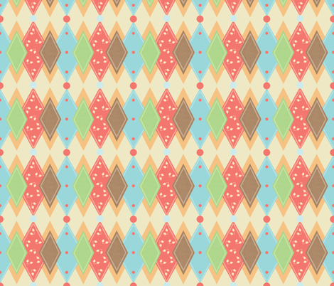 Birdie_small_Harlaquin fabric by lana_gordon_rast_ on Spoonflower - custom fabric