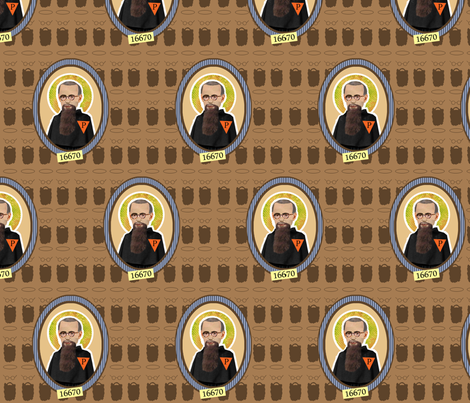 Saint Maximillian Kolbe fabric by littleliteraryclassics on Spoonflower - custom fabric