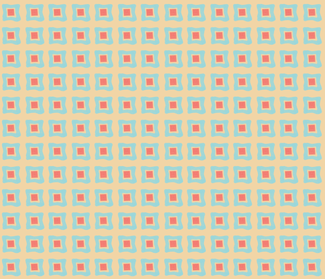 Birdie_Squares fabric by ©_lana_gordon_rast_ on Spoonflower - custom fabric