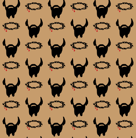 The Beard of Jesus fabric by littleliteraryclassics on Spoonflower - custom fabric