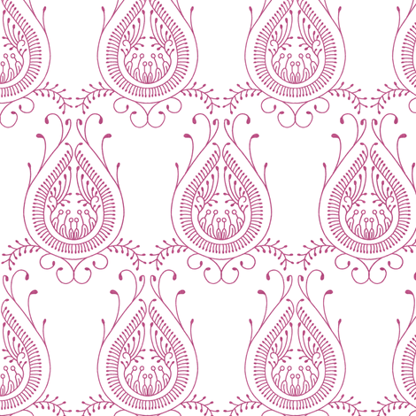 jaipur_paisley_gray fabric by holli_zollinger on Spoonflower - custom fabric