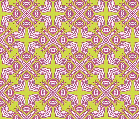 ravenna_boho pink fabric by holli_zollinger on Spoonflower - custom fabric