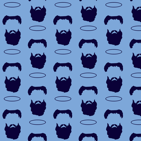The Beard of Saint Augustine fabric by littleliteraryclassics on Spoonflower - custom fabric