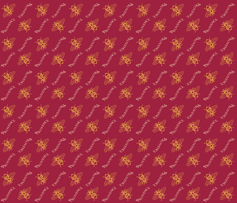 Bees_of_Provence fabric by lana_gordon_rast_ on Spoonflower - custom fabric