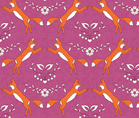 foxen_bohèmian fabric by holli_zollinger on Spoonflower - custom fabric