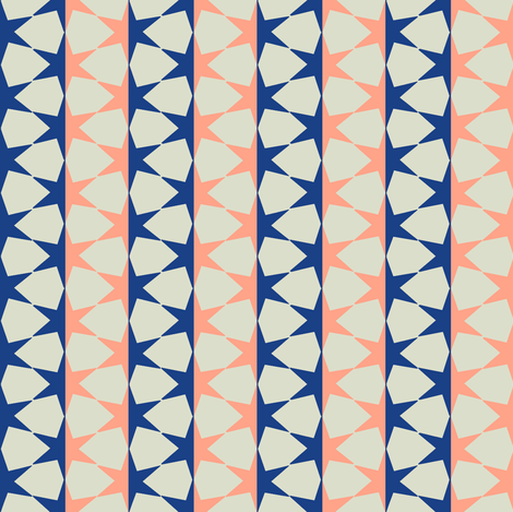 starstripe (midnight blue & sugar pink) fabric by wednesdaysgirl on Spoonflower - custom fabric