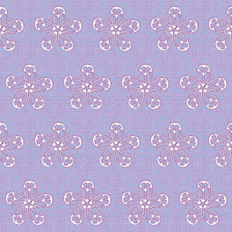 Breezy peaceflowers fabric by keweenawchris on Spoonflower - custom fabric