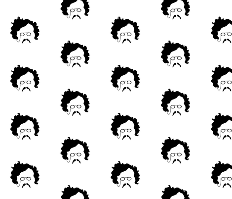 G K Chesterton's Mustache fabric by littleliteraryclassics on Spoonflower - custom fabric