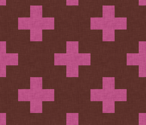 plus_one_pink fabric by holli_zollinger on Spoonflower - custom fabric
