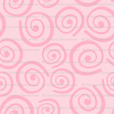 Cupcakes and Swirls Collection - Swirls on Pink by JoyfulRose