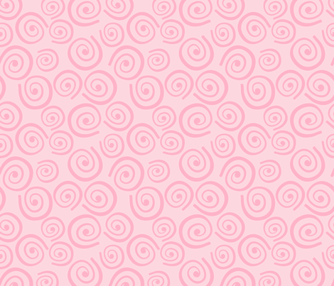 Cupcakes and Swirls Collection - Swirls on Pink by JoyfulRose fabric by joyfulrose on Spoonflower - custom fabric