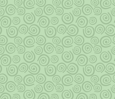 Cupcakes and Swirls Collection - Swirls on Green by JoyfulRose fabric by joyfulrose on Spoonflower - custom fabric