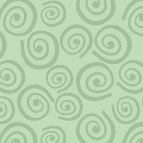 Cupcakes and Swirls Collection - Swirls on Green by JoyfulRose