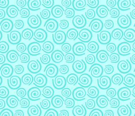 Cupcakes and Swirls Collection - Swirls on Blue by JoyfulRose fabric by joyfulrose on Spoonflower - custom fabric