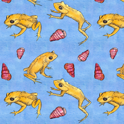 Golden Toad fabric by countrygarden on Spoonflower - custom fabric