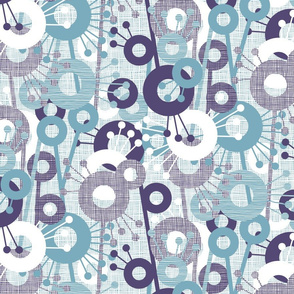 Sticks & Spots, Stripes & Dots: Plum Aqua