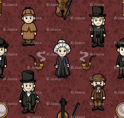 Cutesy Holmes (Burgundy)