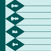 Chessboard Border in Teal-Mint