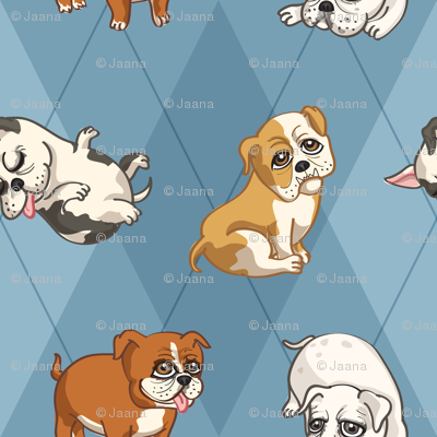 English Bulldogs (Blue)