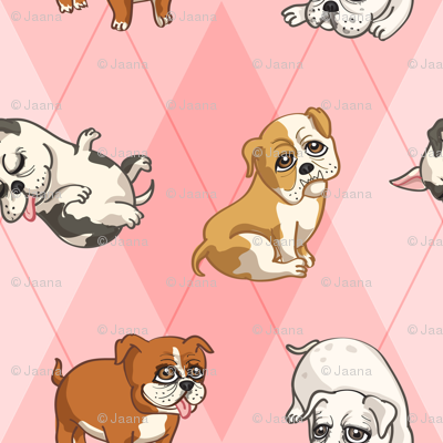 English Bulldogs (Pink)