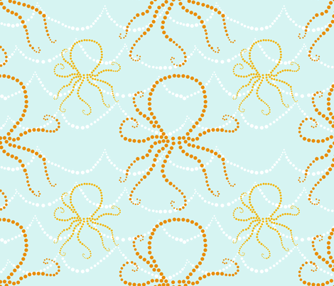 Bubble Octopus fabric by mgterry on Spoonflower - custom fabric