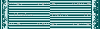 Carnival Border with Stripes in Teal-Mint