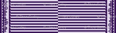 Carnival Border with Stripes in Grape
