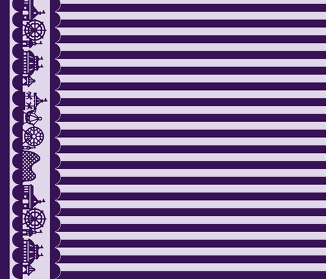 Carnival Border with Stripes in Grape fabric by charmcitycurios on Spoonflower - custom fabric