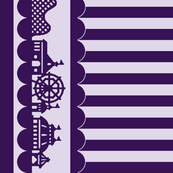 Carnival Border with Stripes in Grape