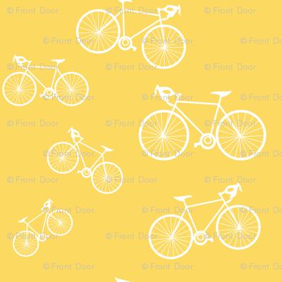 Silhouette Bikes: Yellow