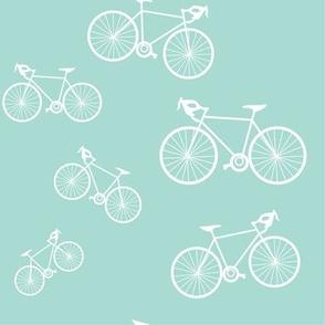 Silhouette Bikes: Mint Blue